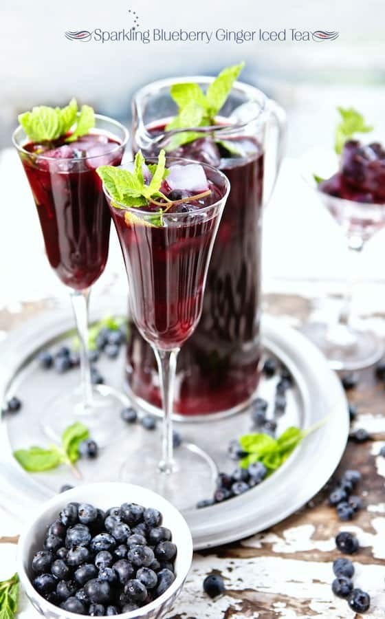 Sparkling Blueberry Iced Tea