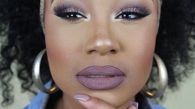 Sultry muted tones makeup idea