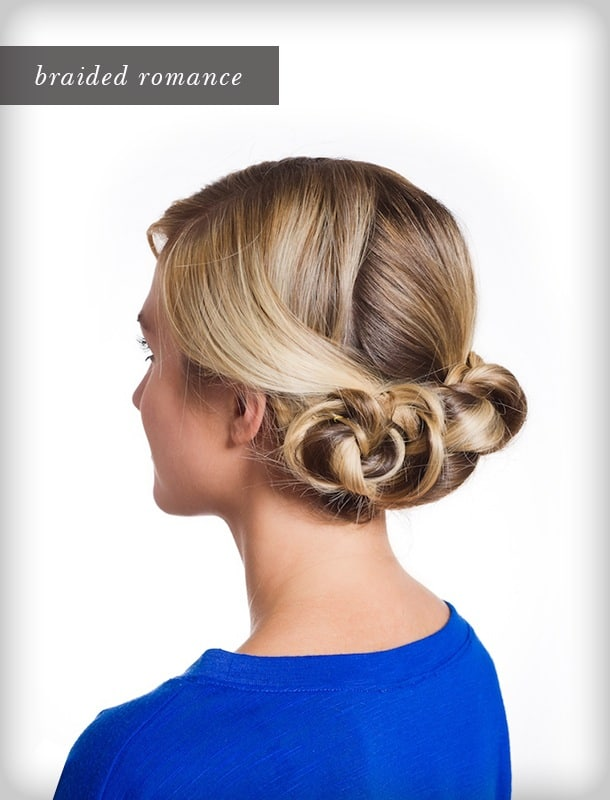 Triple braided bun 15 Beautiful Christmas Hairstyles Ideas and Inspiration