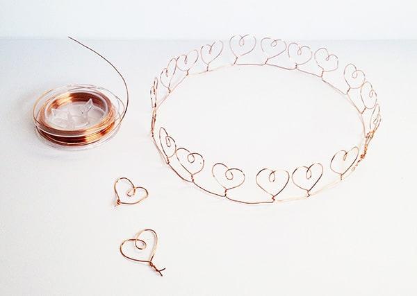 Wire Heart Crown