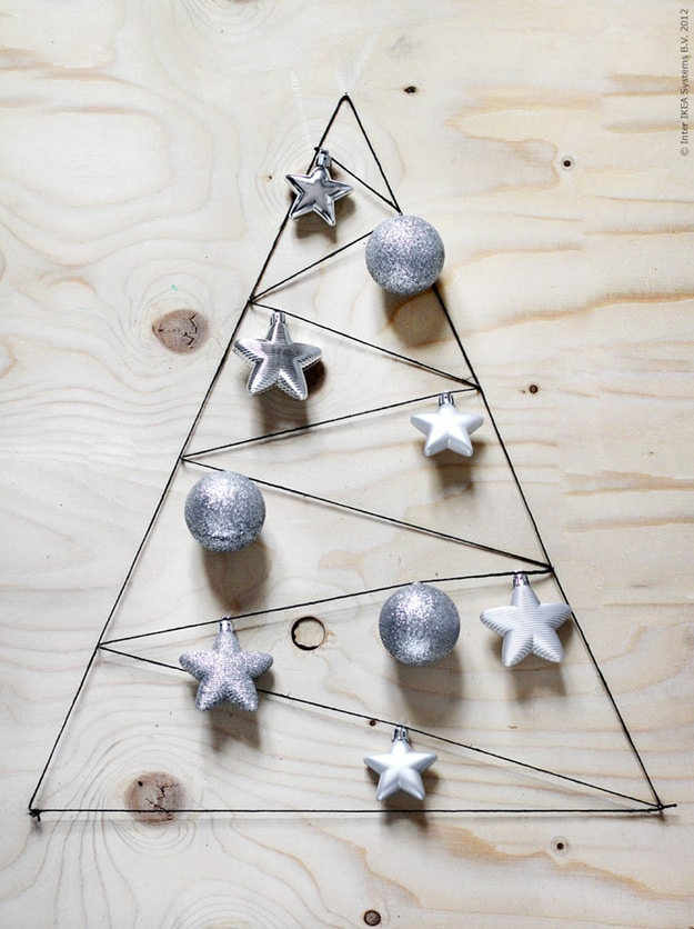 Wood and nail art tree 15 Awesome DIY Christmas Tree Ideas and Projects