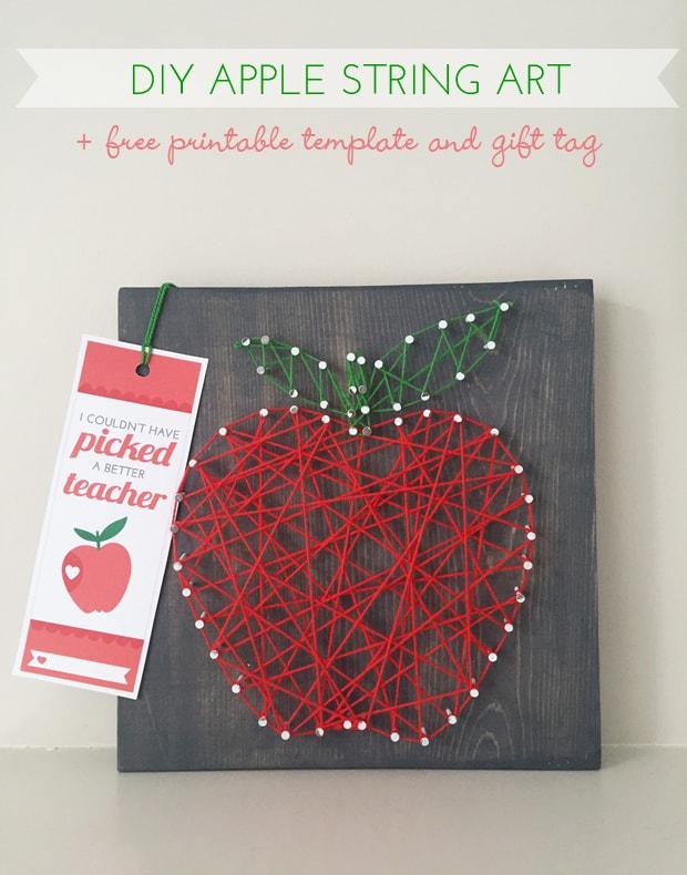 Apple string art