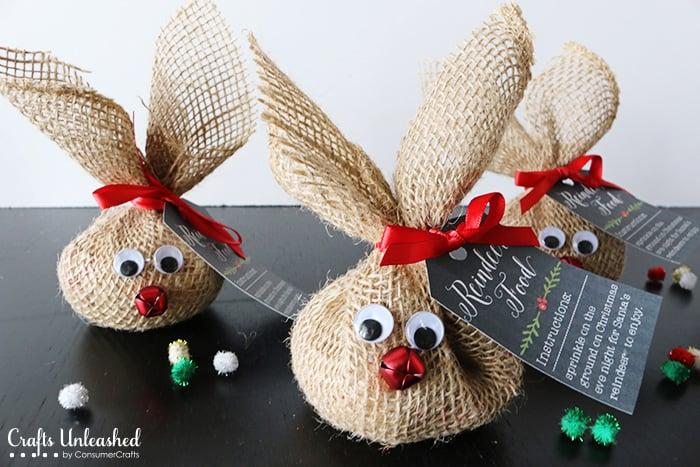 Burlap Reindeer