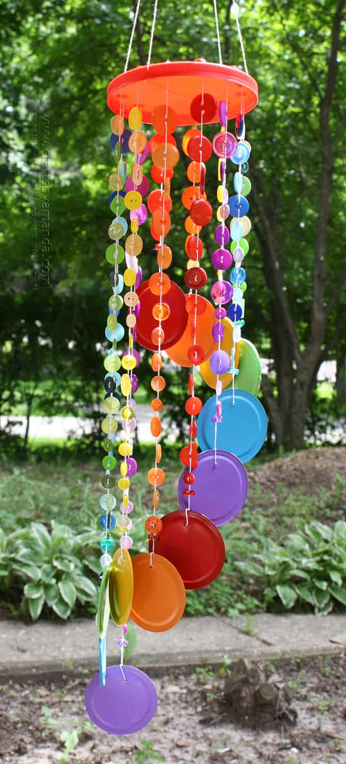 Button wind chimes