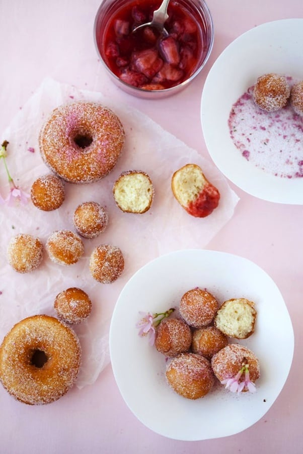 Cherry blossom donuts