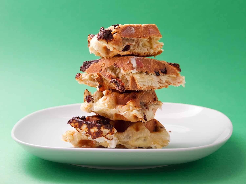 Cinnamon raisin puff pastry waffle