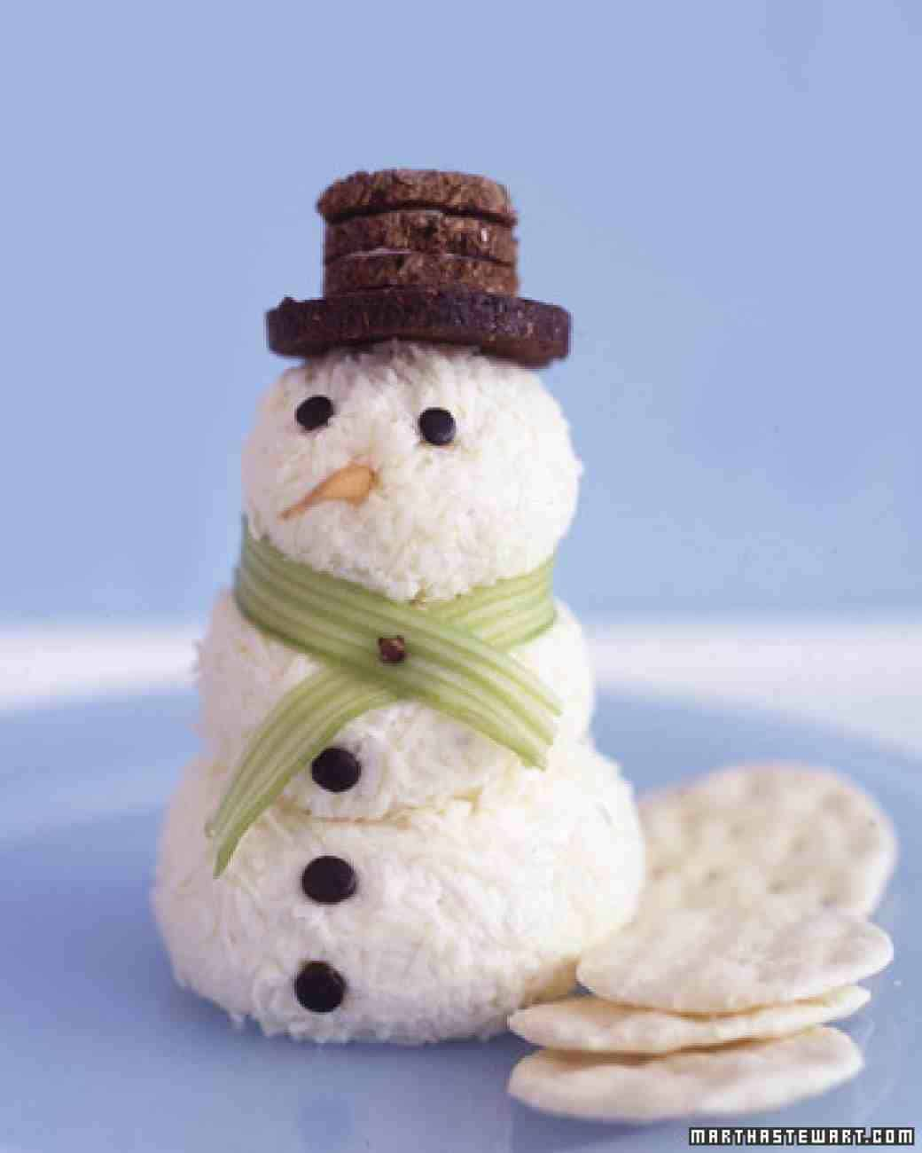 Coconut snowmen with wafers