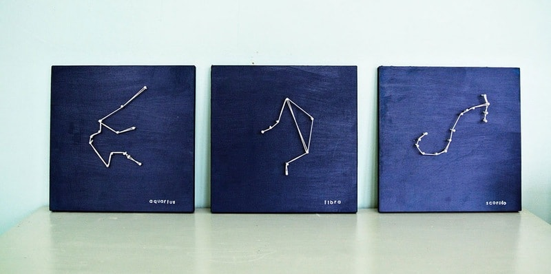 Constellation string art