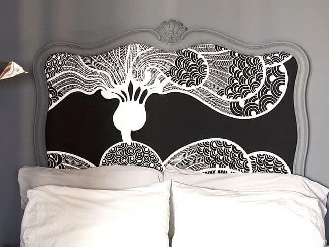 Cool Fancy frame and fabric headboard