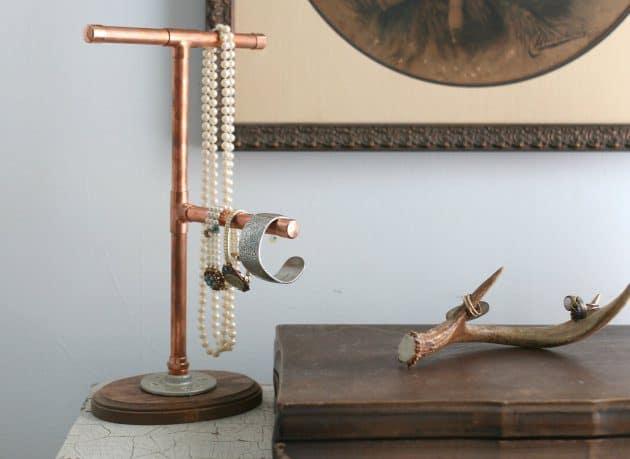 Copper jewelry display