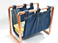 Copper magazine rack 1 200x150 15 Ways to Include Copper Décor into Your Home