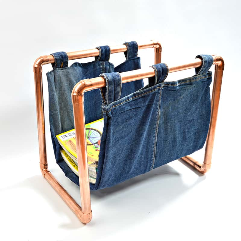 Copper magazine rack