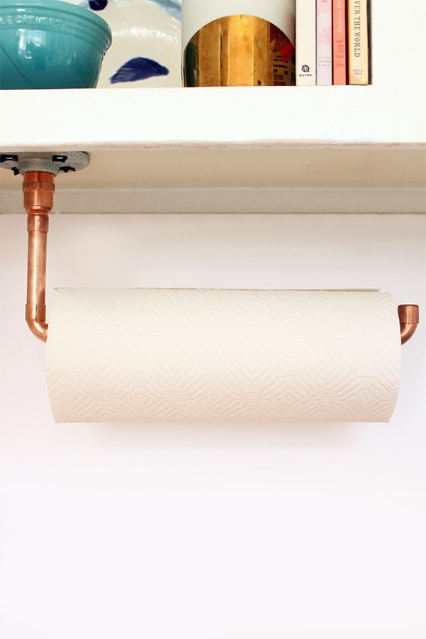 Copper towel holder