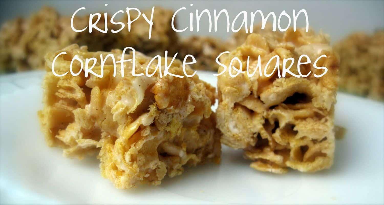 Crispy cinnamon Cornflake squares