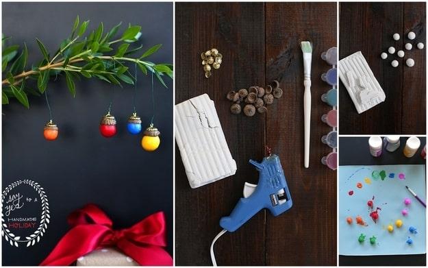 DIY acorn ornaments