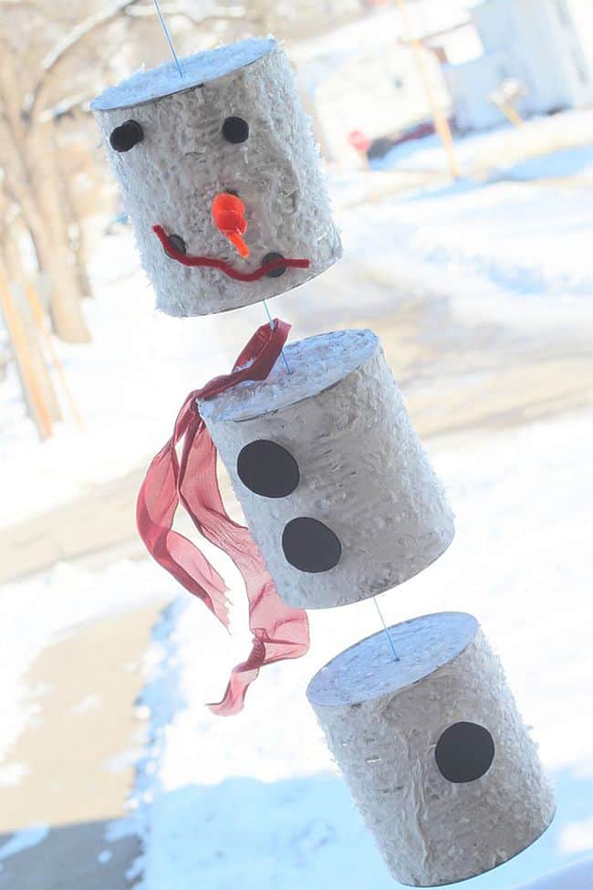 Easy to make Tin can snowman