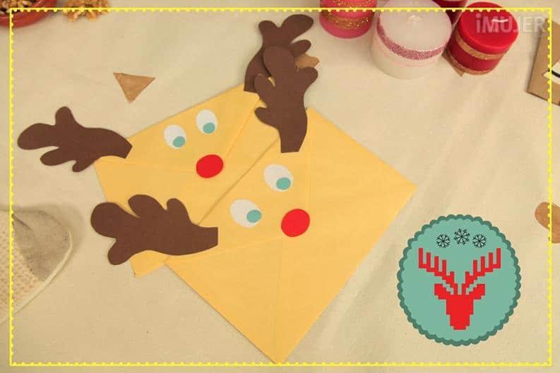 Envelope reindeer