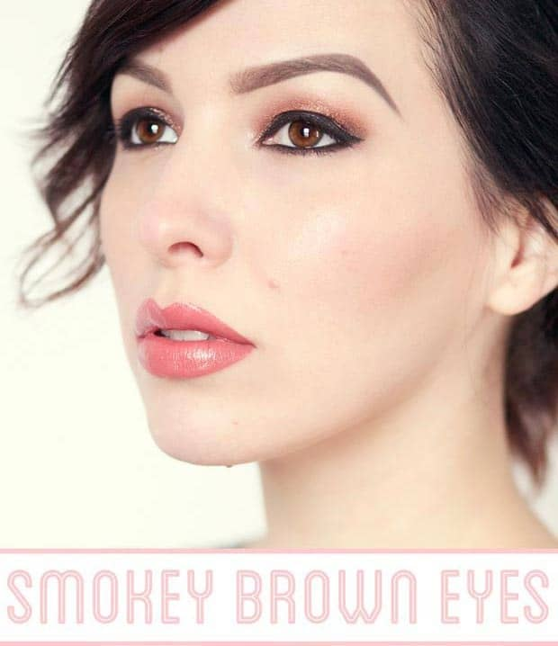 Glammed smokey brown