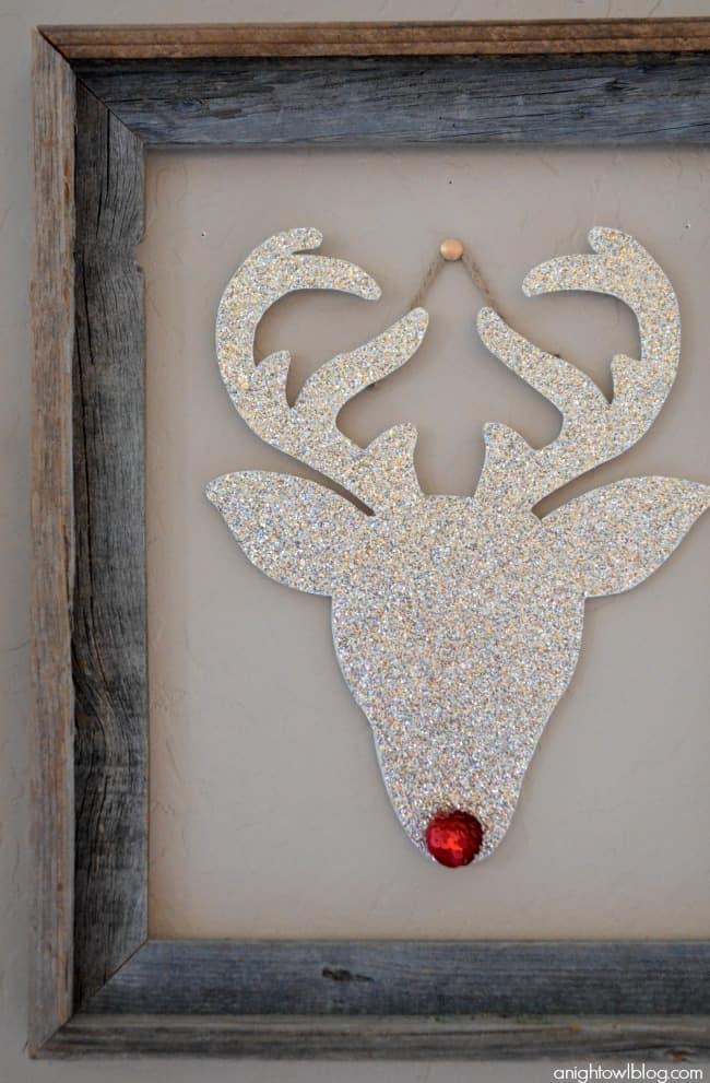 Glitter reindeer