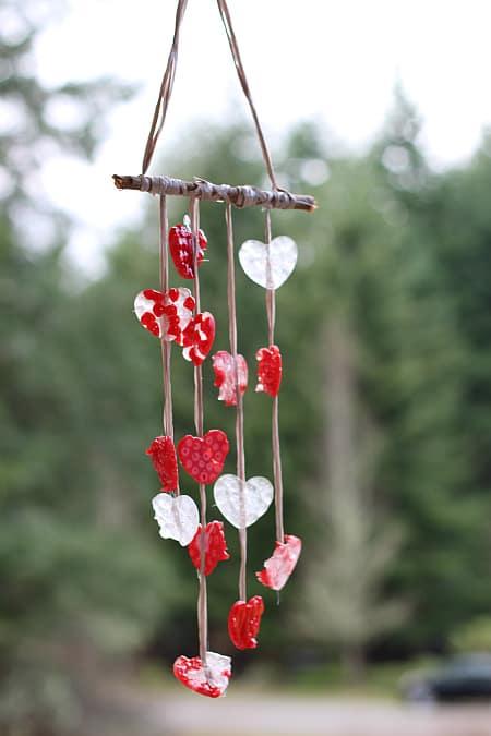 Heart wind chimes