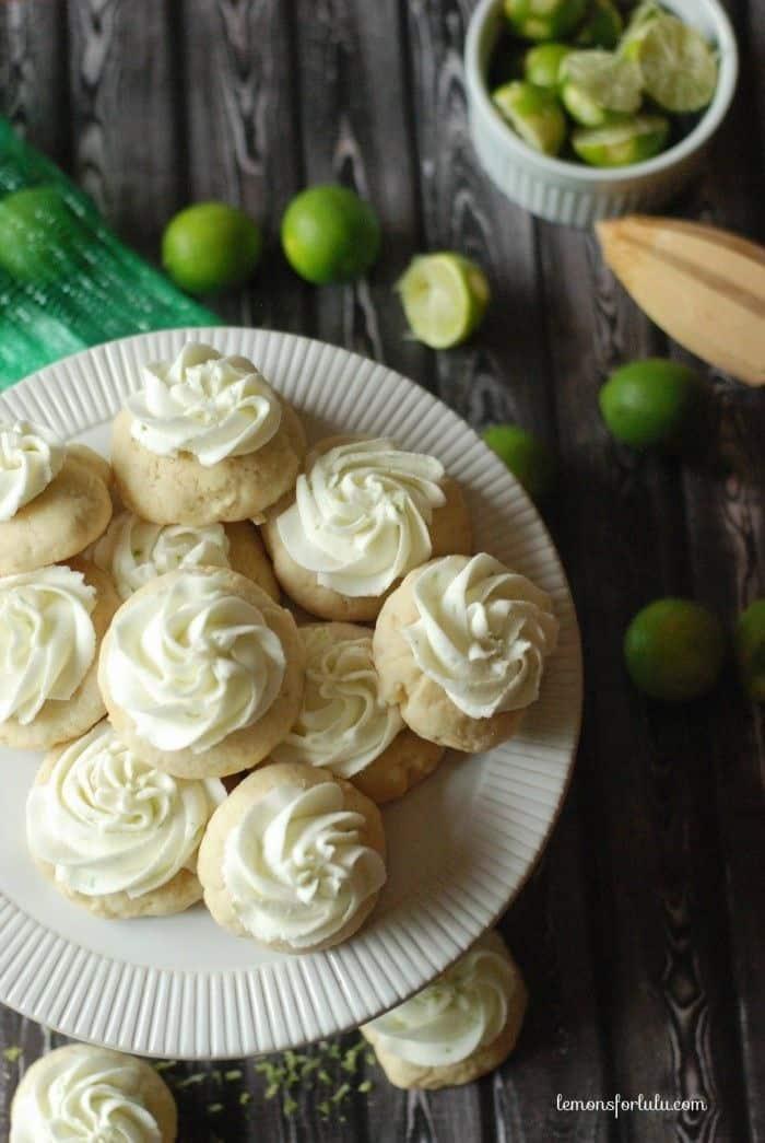 Key lime pie sugar cookies