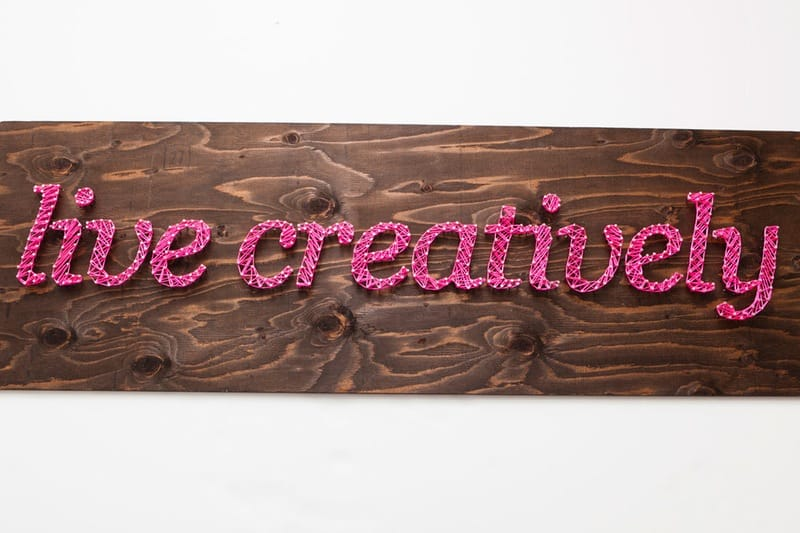 Live creatively string art
