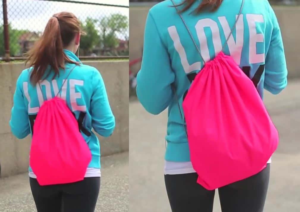 Neon gym bag