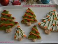 Open faced Christmas tree sandwiches 200x150 15 Fun Christmas Finger Foods for Everyone