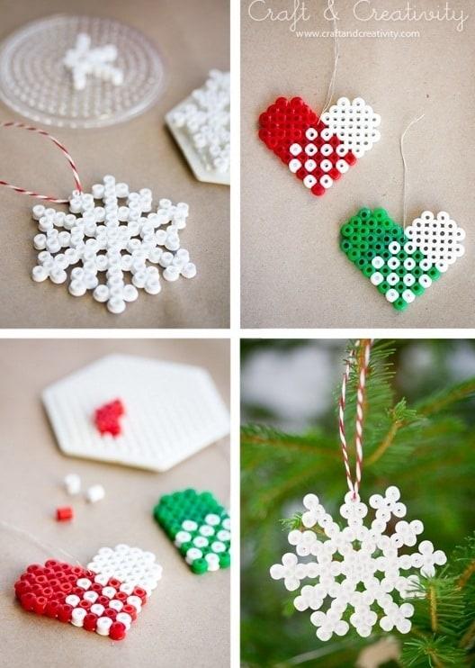 Perler bead ornaments