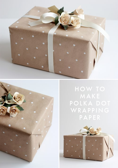 Polka dot gift wrapping paper