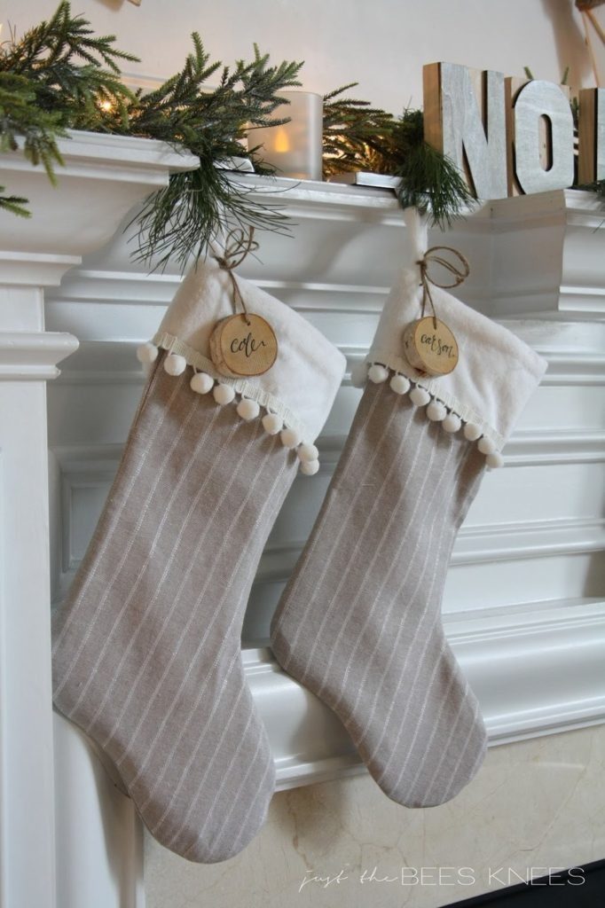 Pom Pom Trim Stocking