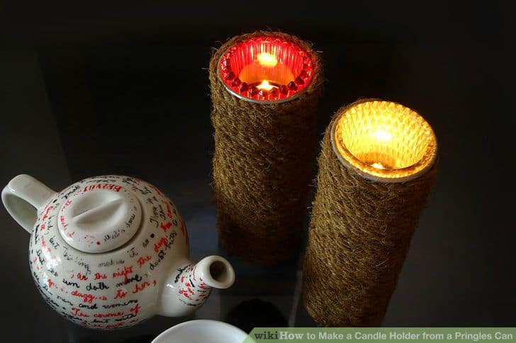 Pringles candle holder