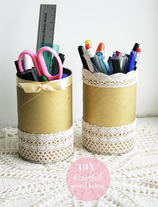 Pringles pencil holders