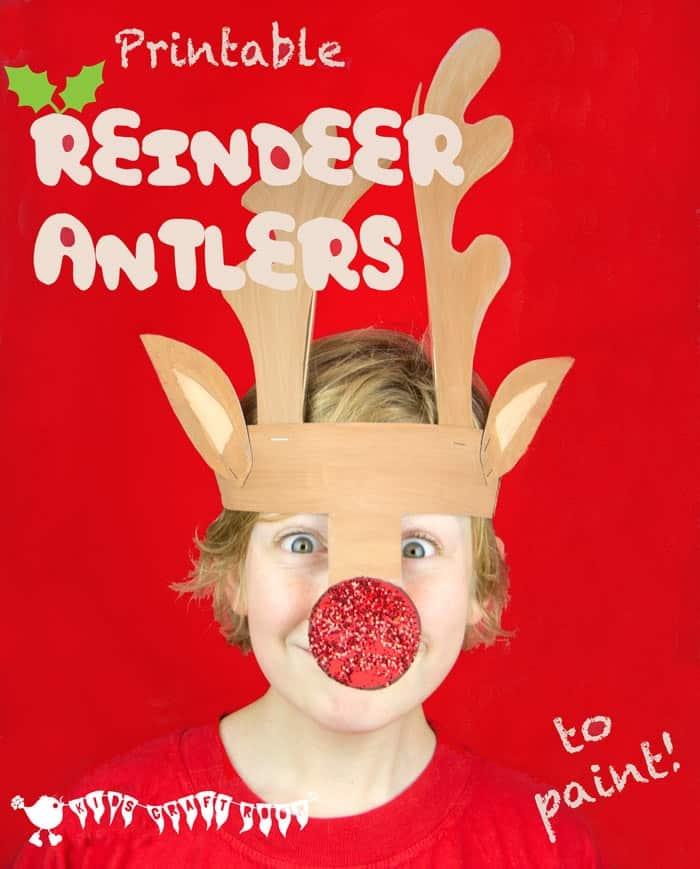 Printable reindeer hat
