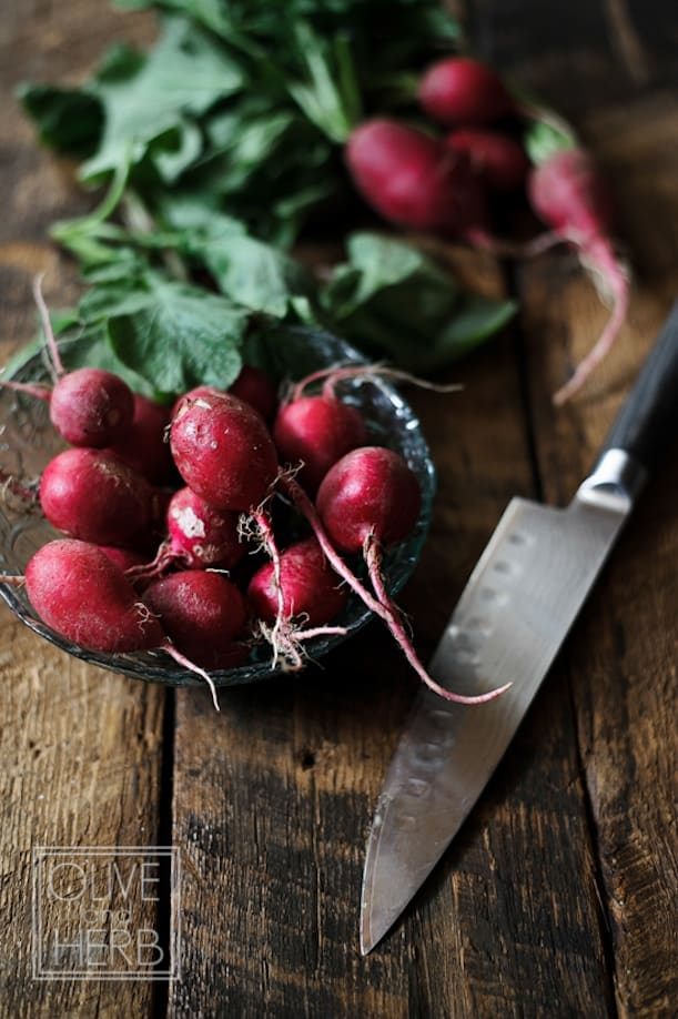 Roasted radishes with rosemary