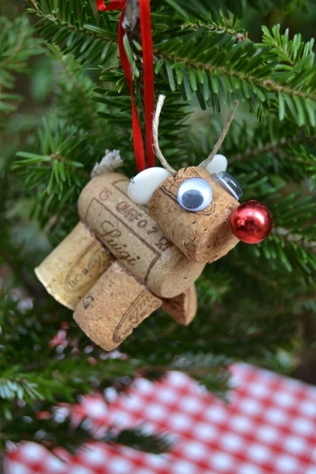 Rudolph cork ornament