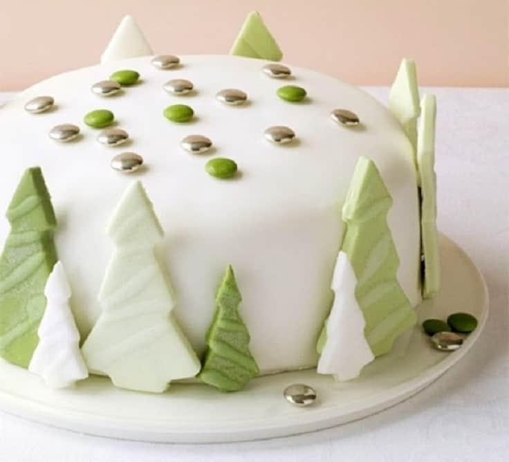 Shimmering forest cake