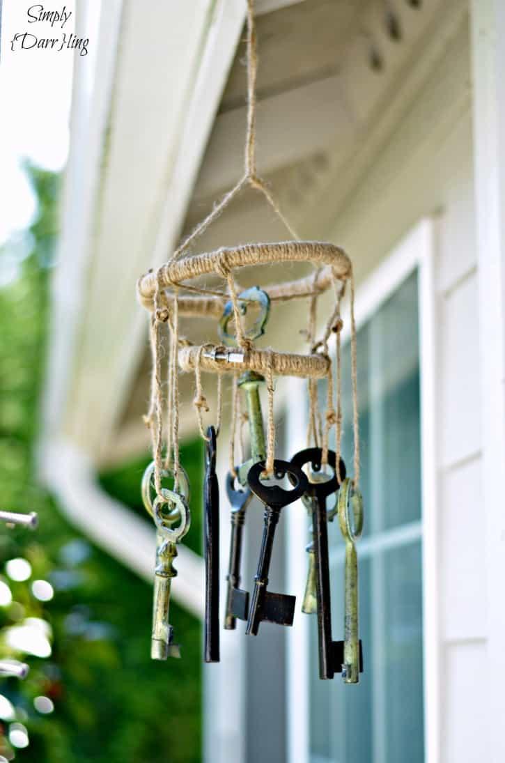 Skeleton keys wind chimes