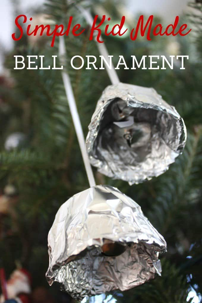 Tin foil bell ornament