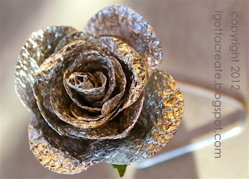 Tin foil rose