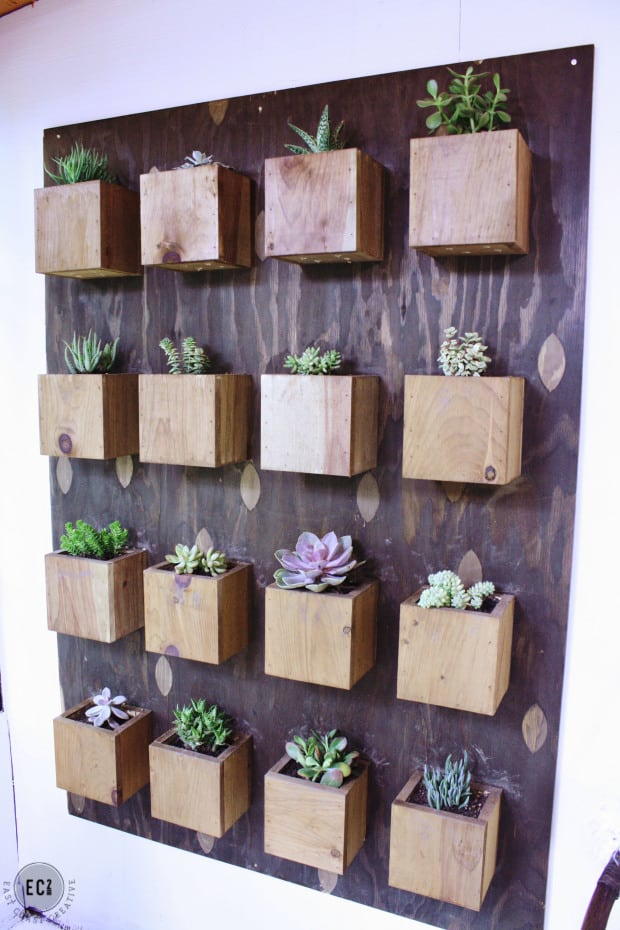 Vertical block garden