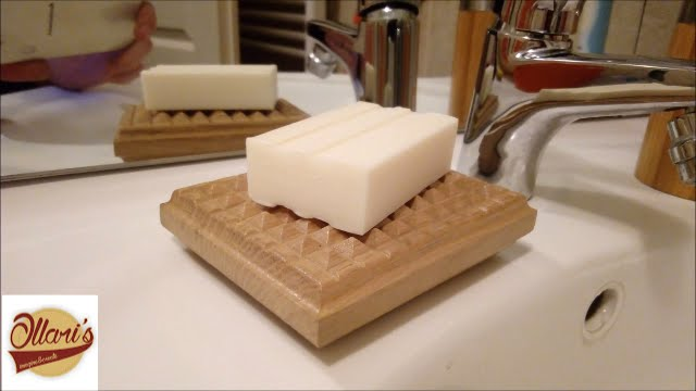 White oak soap dish