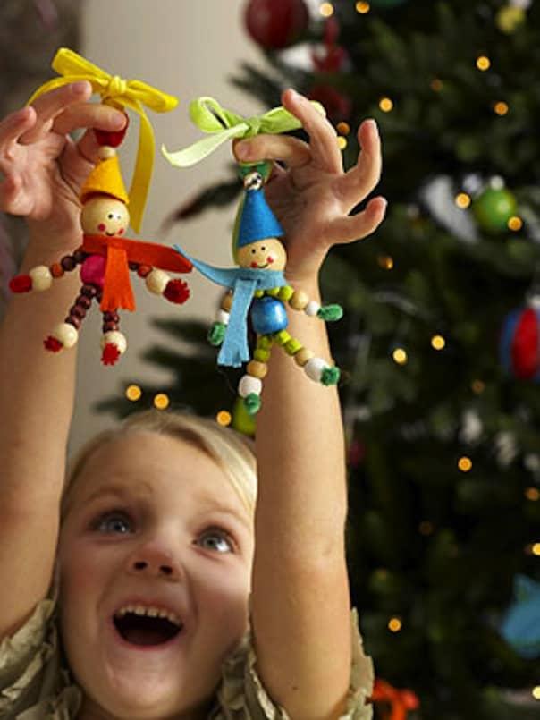 Wooden bead elves