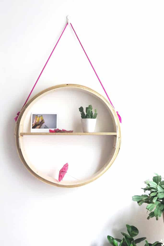 Basket hanging shelf