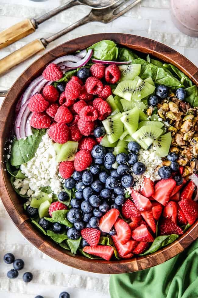 Berry feta spinach salad