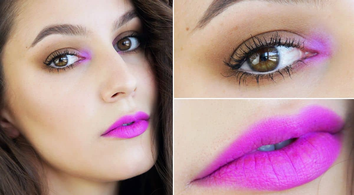 Bright pink accents