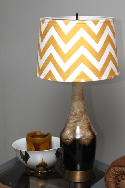 Chevron lampshade