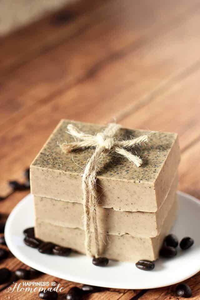 Coffee milk soap