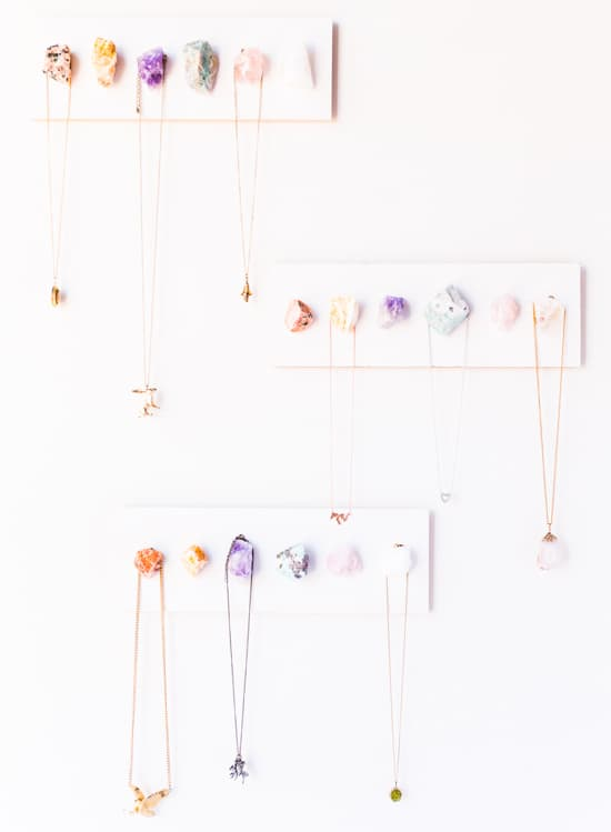 Crystal jewelry display