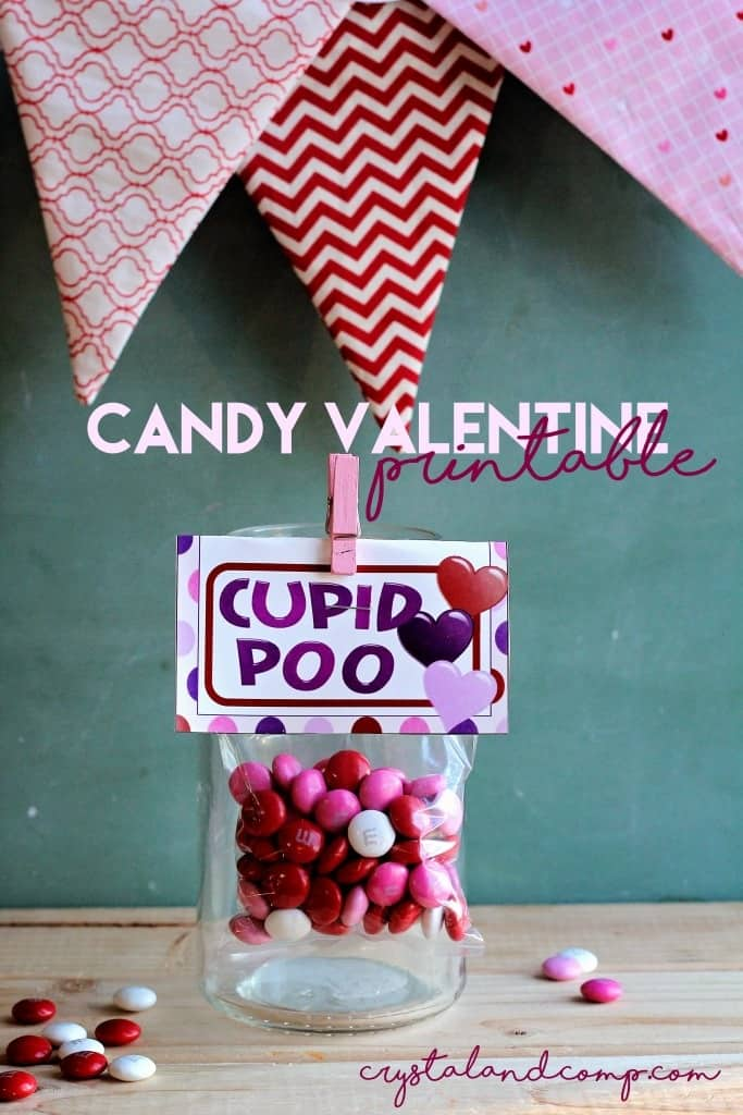 """Cupid poo"" Valentine printable"